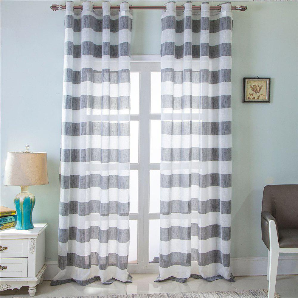 Outfits 1PCS Fresh and Simple Style Striped Curtain