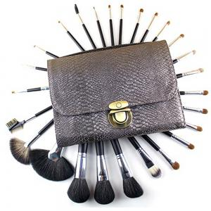 TODO 26pcs Professional Perfect Goat Hair Horse Hair Makeup Brush Kit Set PU Bag -