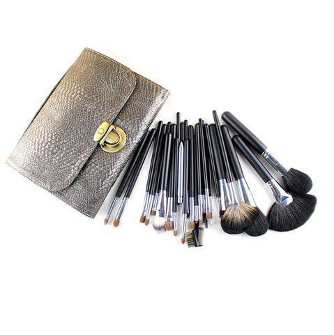 Fashion TODO 26pcs Professional Perfect Goat Hair Horse Hair Makeup Brush Kit Set PU Bag