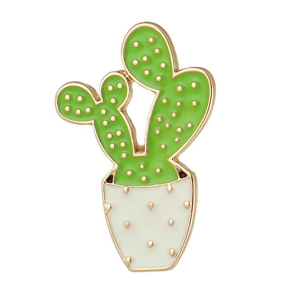 Cheap Cute Brooch Green Enamel Cactus Brooches