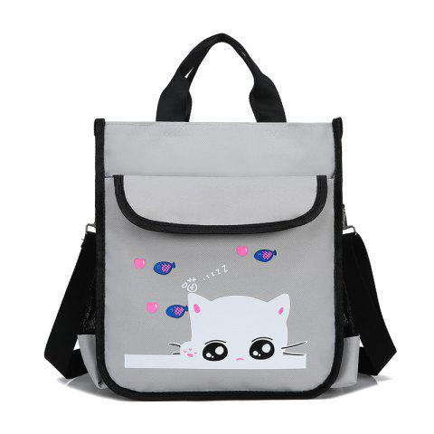 Outfit Kid's Cartoon Cat Print Cute Schoolbag