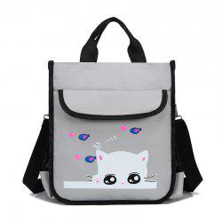 Kid's Cartoon Cat Print Cute Schoolbag -