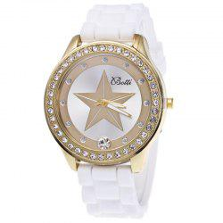 Five-pointed Star Silicone Watch -