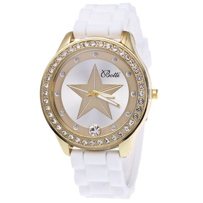 Fashion Five-pointed Star Silicone Watch