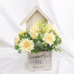 Wooden House Decorated Art Flower Bonsai -