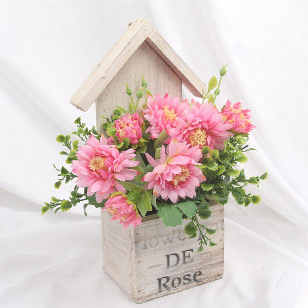 Outfits Wooden House Decorated Art Flower Bonsai