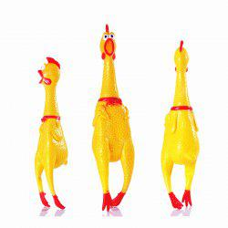 Chic Cute Screaming Chicken Pet Toys Squeaker Rubber Yellow Color -