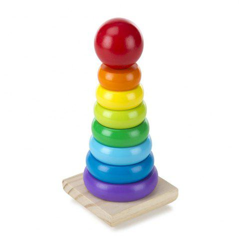 Rainbow Stacker Wooden Ring Educational Toy