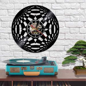 Decorative  Design Vinyl Record Wall Clock for Bedroom Gift Birthday Present -