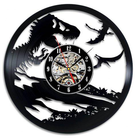 Fashion Jurassic Park World Art Gift Vinyl Record Wall Clock Present