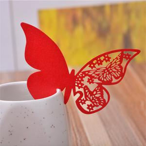 Creative Seat Card Wedding Table Table Decorative Paper Butterfly -