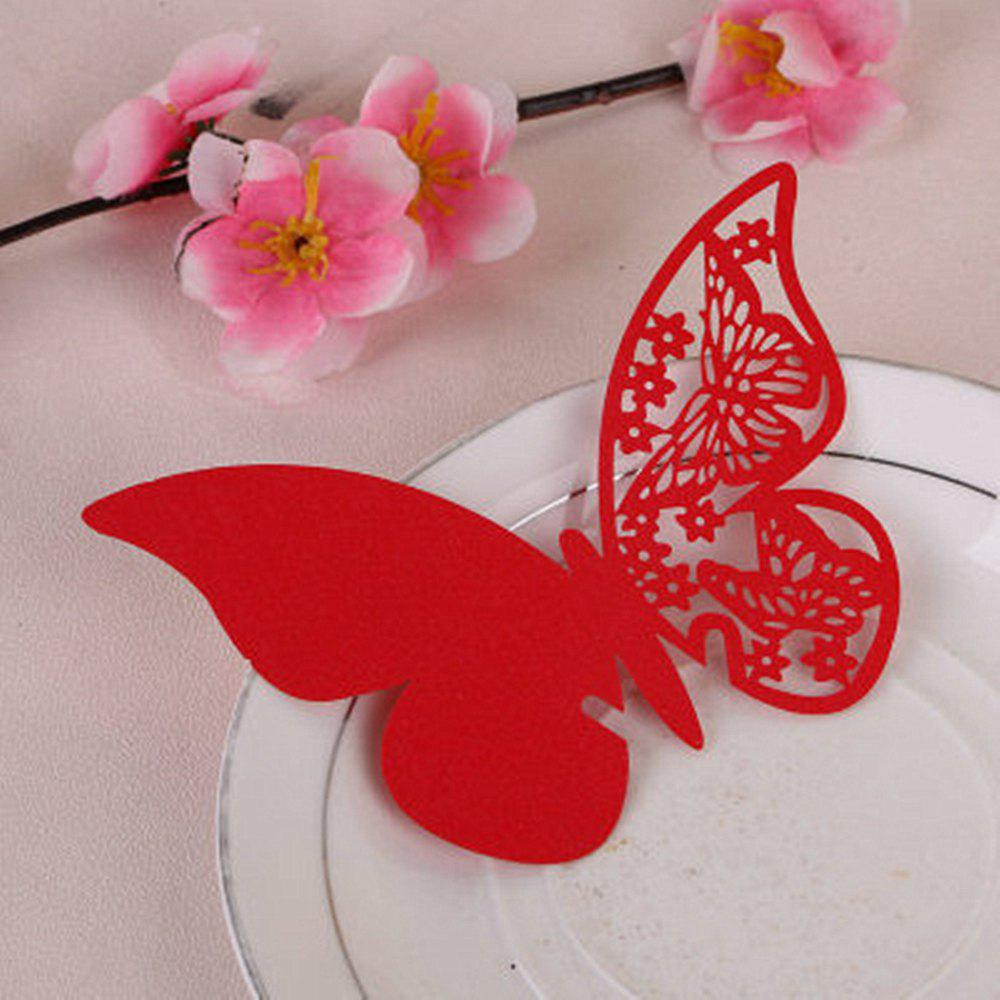 Discount Creative Seat Card Wedding Table Table Decorative Paper Butterfly