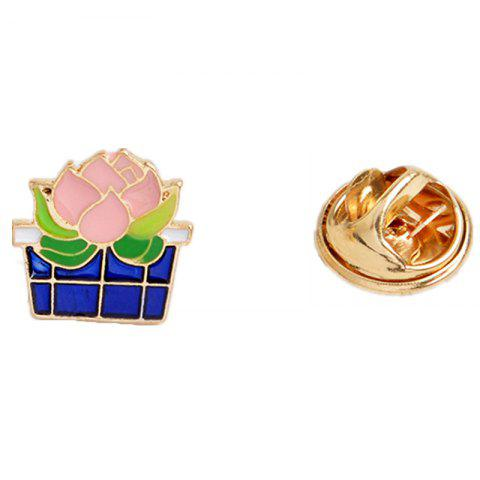 Outfits Fashion Cute All-Match Green Sweater Brooch Cactus Mini Plant