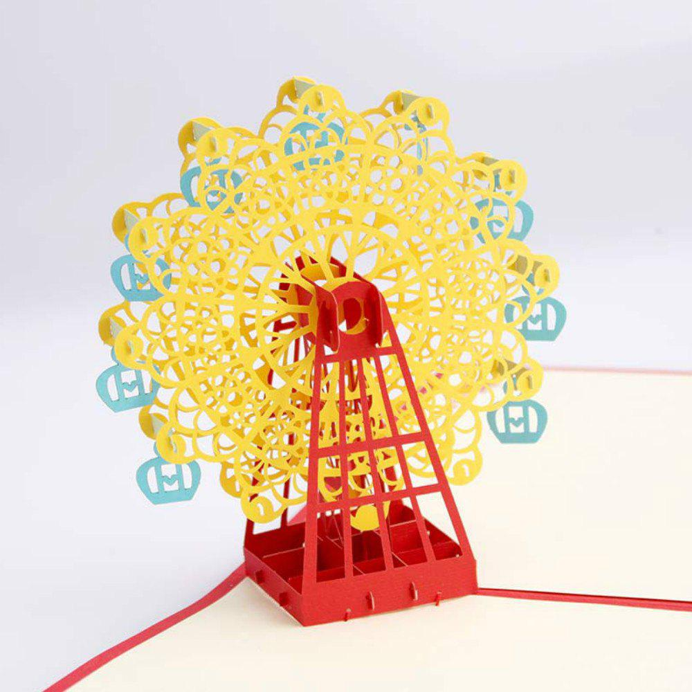2018 3 D Ferris Wheel Origami Paper Greeting Cards Happy Birthday