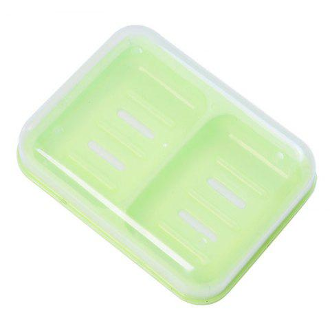 Outfits Candy Color Double Grid Lid Waterproof Soap Box Creative Drain Soap Holder