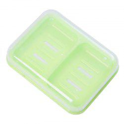 Candy Color Double Grid Lid Waterproof Soap Box Creative Drain Soap Holder -