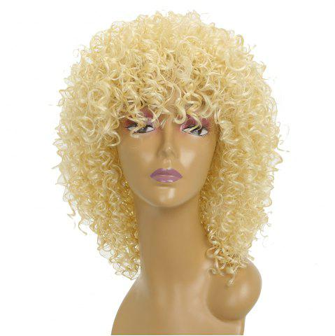 Outfit Short Afro Curly Synthetic Hair with Bang for Afircan American 4 Colors
