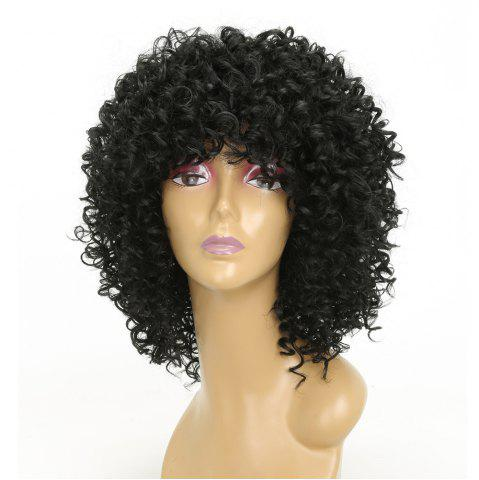 Store Short Afro Curly Synthetic Hair with Bang for Afircan American 4 Colors