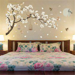 White Peach Butterfly  Wall Sticker for Home Decoration - Multi