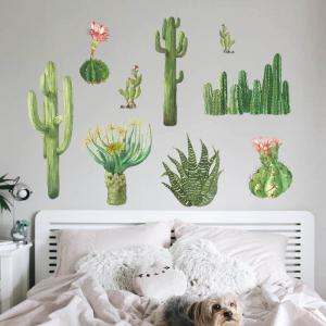 Cactus Wall Sticker for Home Decoration -