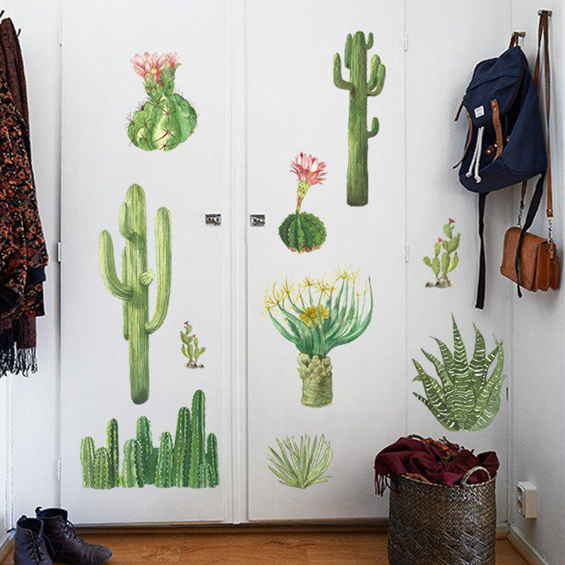 Fancy Cactus Wall Sticker for Home Decoration