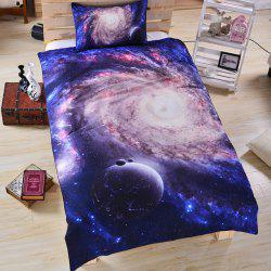 Galaxy 3d Literie Housse de couette Set Digital Print 3pcs -