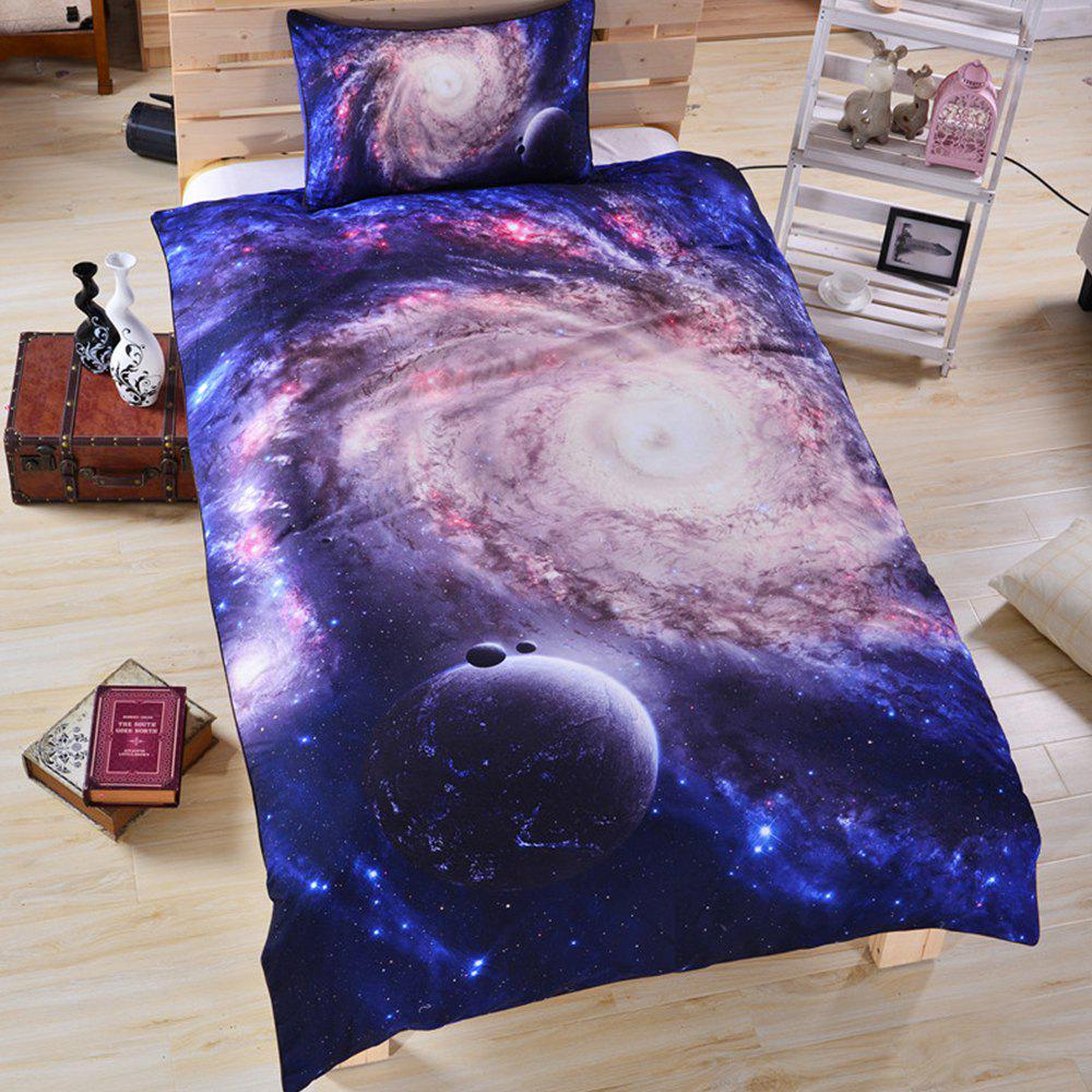 Galaxy 3d Literie Housse de couette Set Digital Print 3pcs