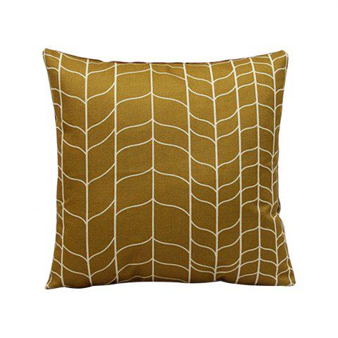Trendy Retro Geometric Abstract Linen Cushion Pillowcase