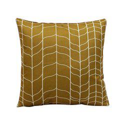 Retro Geometric Abstract Linen Cushion Pillowcase -