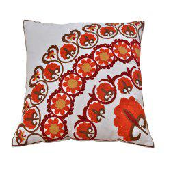 Cotton Wool Embroidered Cushion Pillowcase -
