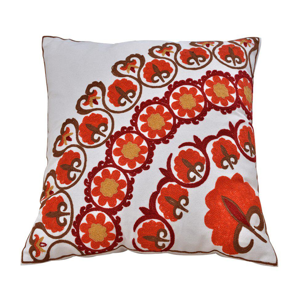 Outfits Cotton Wool Embroidered Cushion Pillowcase