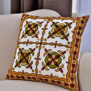 National Wind Creative Cotton Embroidery Cushion Pillowcase -