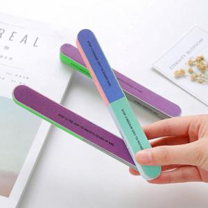 Nail File Scrub Article Six Surface Polishing Manicure Double Grinding Tool -