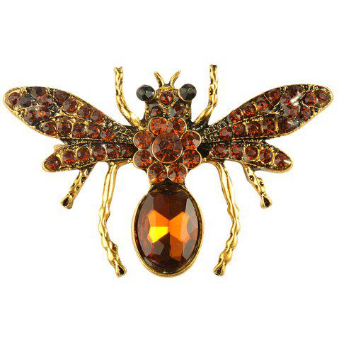 New Rhinestone Bee Brooch Alloy Vintage Insect Brooches for Women Fashion Jewelry
