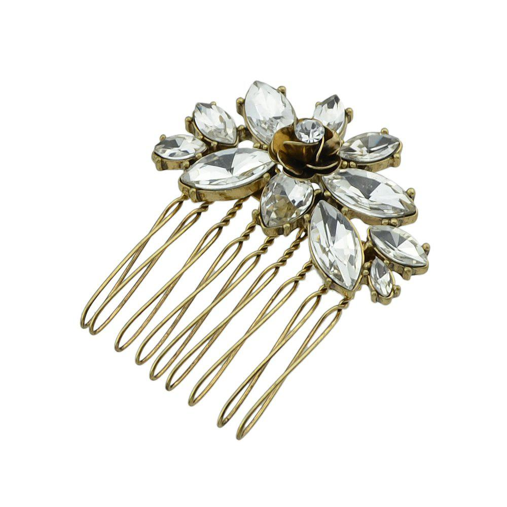 Full Strass Luxury Flower Combs Accessoires de cheveux