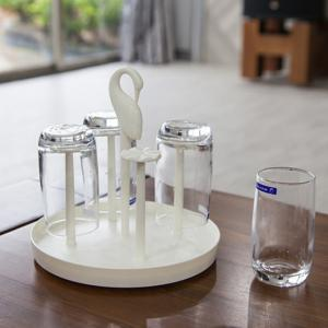Creative Rotating  Holder and Glasses Set -