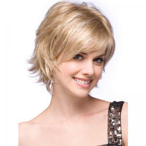 Fashionable Lady Gradient Short  Micro - Roll Wig -