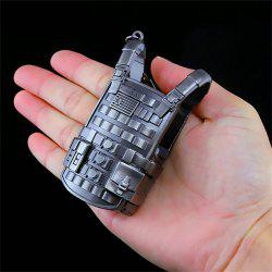Three-level Bulletproof Vest Metal Model Figure Arts Toys Collection -