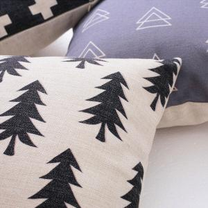 Forest Simple White Geometric Abstract Cotton Hug Pillowcase -