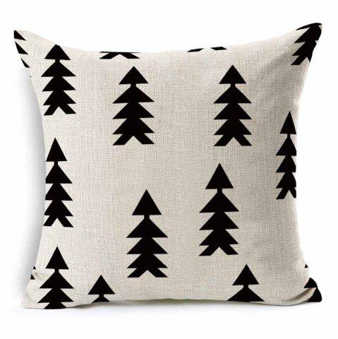 Outfits Forest Simple White Geometric Abstract Cotton Hug Pillowcase