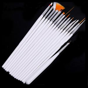 Multi-functional Nail to Painting Pen Canvas Oil Brush Two Colors 15PCS -