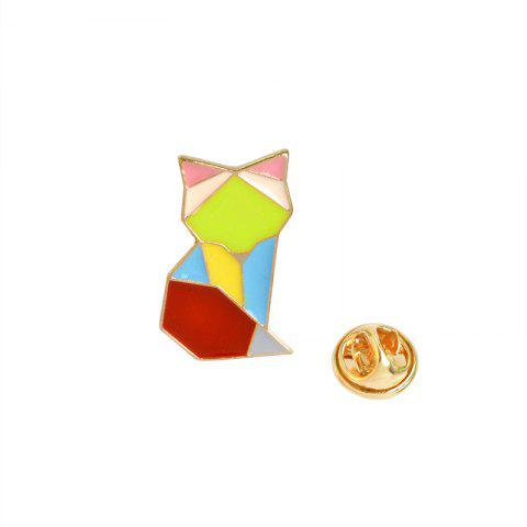 Outfit Creative Geometric Lines Colorful Animals Whale Brooches Accessories