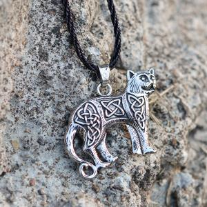 Collier Chat Pendentif Animal Chat Kettl Cool Fashion -