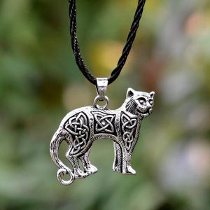 Collier Pendentif Chat Animal Chat Kettl Cool Fashion -