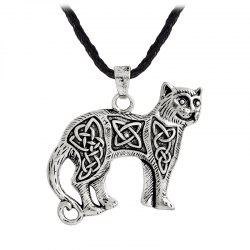 Men's Animal Cat Pendant Necklace Kettl Cool Fashion -