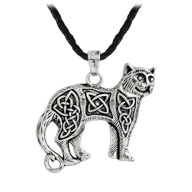 Store Men's Animal Cat Pendant Necklace Kettl Cool Fashion