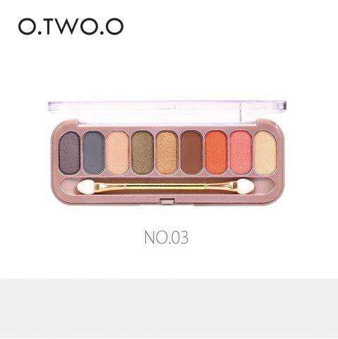 Sale O.TWO.O 9 Colors Palette Eyeshadow With Brush Make Up Eye Shadow for Women Girl Gift