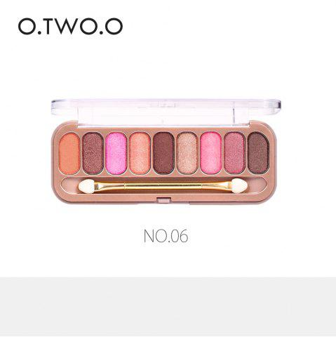 Trendy O.TWO.O 9 Colors Palette Eyeshadow With Brush Make Up Eye Shadow for Women Girl Gift