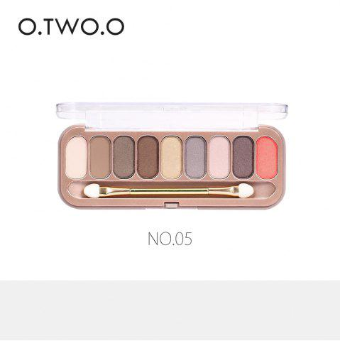 Store O.TWO.O 9 Colors Palette Eyeshadow With Brush Make Up Eye Shadow for Women Girl Gift