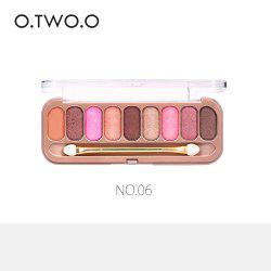 O.TWO.O 9 Colors Palette Eyeshadow With Brush Make Up Eye Shadow for Women Girl Gift -